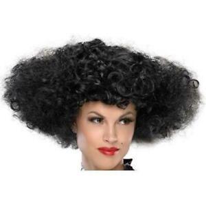Black Let's Dance Huge Curly Wig, Disco, 70's, Victorian, Regency, Afro, Wild