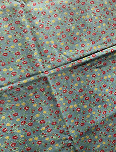 VTG COTTON FEED SACK / FLOUR SACK FABRIC BRIGHT UNUSUAL  SPRING FLOWER  PATTERN