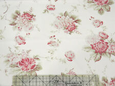 Moda 3 Sisters Seaside Rose Bouquet White Fabric