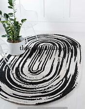 Modern Design Oval Floor Indian Flat Weave Cotton Multi Color Mat 4x6 Feet Rugs