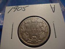 1905 Canada 25 cent - circulated Canadian quarter