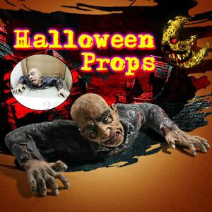 Halloween Lifesize Zombie Corpse Broken Body Walking Dead Party Decor Dumm //