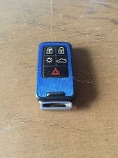 Gebürstet Blau Folie Dekor Cover Schlüssel Volvo D5 S80 XC60 XC70 V70 5 Tasten