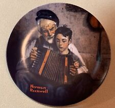 c1981 Knowles The Music Maker Norman Rockwell plate Rockwell Heritage Collection