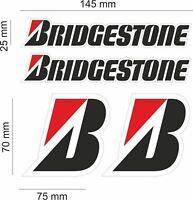 FE KIT 4 BRIDGESTONE AUFKLEBER SPONSOR DECAL set race bike yamaha honda bmw /903