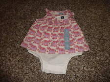NWT NEW BABY GAP 0-3 ELEPHANT DRESS OUTFIT