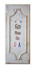 Farmhouse Wood Sign God Bless the USA Wooden Sign Americana Patriotic farm home