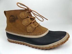 Sorel Womens Out N About Cap Toe Ankle, Elk Full Grain Leather, SZ 8.0 M,  17464