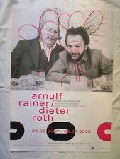 ARNULF RAINER & DIETER ROTH original VINTAGE Ausstellungsplakat POSTER 2007 HH