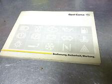 Original Opel Corsa A Bordbuch Bedienungsanleitung Stand  10 / 90