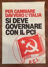manifesto POSTER,Affiche 1975,si deve governare PCI PARTITO COMUNISTA POLITICA