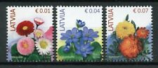 Latvia 2019 MNH Flowers R/P Reprint 3v Set Flora Plants Nature Stamps