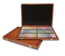 PASTELS, 72 Color, Semi Hard Gallery, Euro Style, In Hand Crafted Wood Case.