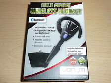 MICROSOFT XBOX 360 & PS3 WIRELESS LIVE HEADSET BLUETOOTH MICROPHONE Boxed Venom