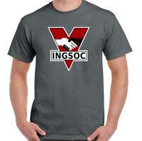 INGSOC T-Shirt 1984 Mens George Orwell Fictional Novel Top English Socialism
