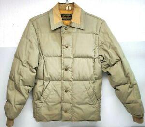 VINTAGE Eddie Bauer Arctic Goose Down  Jacket Olive Puffer coat Men's XS Medium