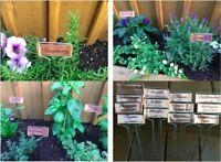 12 Metal Plant Garden Labels Markers Zinc Aluminum Tags Stakes Art Decorative
