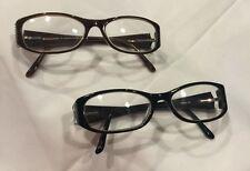 2 PAIRS - Women's LM Eyeglasses - FULL FRAMES - BLACK & BROWN - Temple BLING