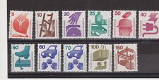 DEUTSCHE BUNDESPOST GERMANY MNH SET OF 11 STAMPS ACCIDENT 1971-74 SG  1596-1605