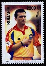 "2001 HAGI,the KING,""Comandante"",Famous Football player,soccer,Romania,M.5571,MNH"