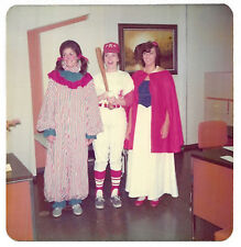 Square Vintage 70s PHOTO Women In Clown, Baseball, Snow White Halloween Costumes