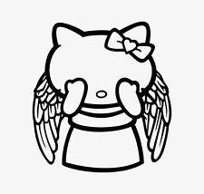 Decal Vinyl Truck Car Sticker - Hello Kitty Dr. Who Weeping Angel