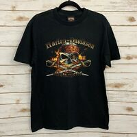 Harley Davidson Men's Black Pirate Skull T Shirt