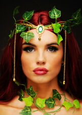 Womens Poison Ivy Style Ivy Leaf Tiara Headpiece