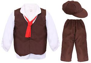 CHILD BROWN POOR VICTORIAN COSTUME HISTORICAL TUDOR SCHOOL BOOK DAY FANCY DRESS