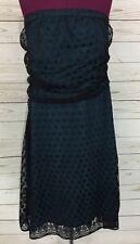 Torrid Teal Blue/Green Black Polka Dot Lace Strapless Dress Size 18