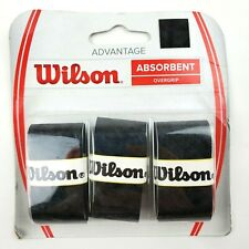 Wilson Advantage Overgrip Black Ultra Absorbent Tennis Racket Grip Brand New