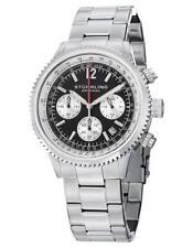 Stuhrling 669B 01 Monaco Quartz Chronograph Stainless Steel Date Mens Watch