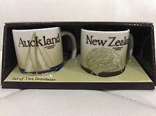 STARBUCKS SET OF 2 DEMITASSE New Zealand & Auckland CITY MUGS 3 OZ. with SKU