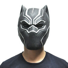 Halloween Cool Black Panther Mask Movie Fantastic Four Cosplay Latex Party Mask