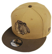 New Era Chicago Blackhawks Wheat Walnut Snapback Casquette 9 fifty 950 Basecaps