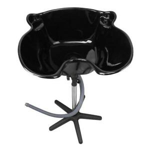 Black Portable Height Adjustable Shampoo Basin Hair Bowl Salon Treatment Tool