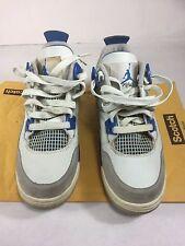 Air Jordan Retro IV 4 Military Blue White Neutral Grey Size 4 Youth GS