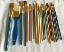 Art Artist Craft Paint Brushes Lot 20+ Sized 0 to 1""