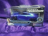 Fast & Furious Brian's Nissan GT-R (R35) Ben Sopra Blue Die-Cast 1:32 Scale New