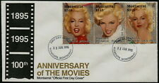 MARILYN MONROE - 1995 MONTSERRAT '100th ANN. OF MOVIES' First Day Cover [A0466]