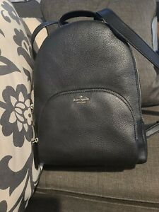kate spade new york Jackson Leather Backpack, Size Medium - Black