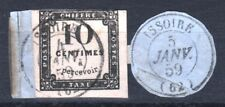 "FRANCE STAMP TIMBRE TAXE N° 1 "" 10c NOIR LITHOGRAPHIE "" OBLITERE TB A VOIR  T533"