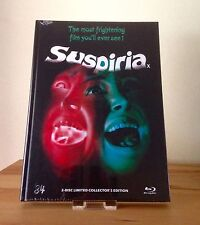 SUSPIRIA - Exclusive Limited & Numbered Blu-Ray & DVD MEDIABOOK Cover D - NEW
