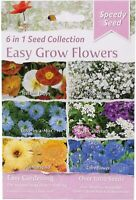 1000+ EASY GROW FLOWERS 6 SACHETS OF FLOWER SEEDS FOR DIRECT SOWING