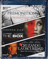 Pack 3 blu-ray: PREMONITION, THE BOX y CRUZANDO LA OSCURIDAD. Tarifa plana envío