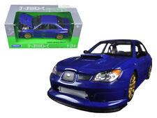 SUBARU IMPREZA WRX STI 1:24 Scale Diecast Model Toy Car Miniature Blue