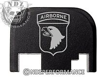 For Glock 17 19 21 22 23 27 30 34 36 41 Rear Plate Blk G1-4 Army Airborne 101st