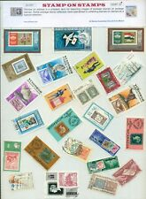Stamp On Stamp 25 Different Large - STAMP PACKET