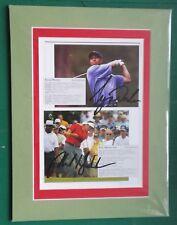 Tiger Woods 2002 Ryder Cup USA-Atalaya firmado exhibición en Monte. Genuino & Rare
