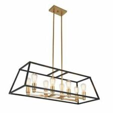 Artika CAR36-ON Chandelier, Gold and Black -8 Bulbs Included